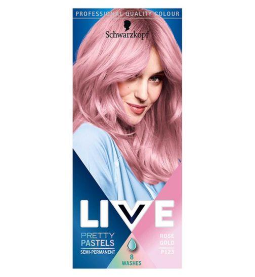 Schwarzkopf Live Pretty Pastels Rose Gold Semi Permanent Hair Dye Boots