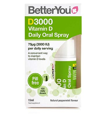 BetterYou DLux3000 Vitamin D Daily Oral Spray 15ml
