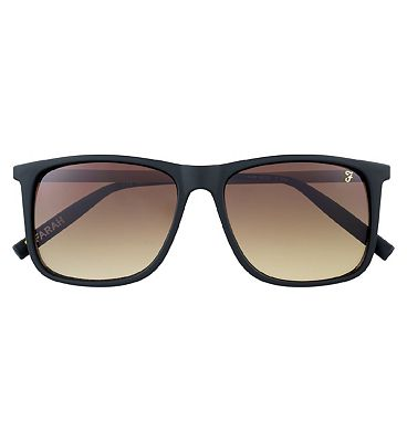 Farah Sunglasses - Matte Black and Brown Frame