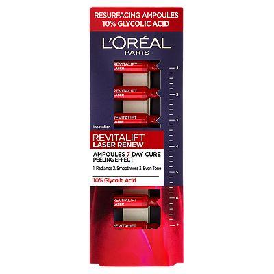 Image of L'Oreal Paris Revitalift Laser Ampoules 10% Glycolic Acid Peel (7x1.3ml)