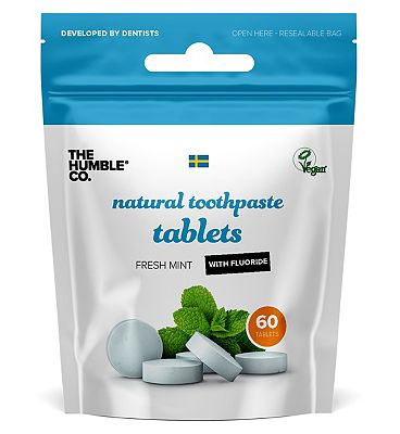 Humble Fresh Mint with Flouride Toothpaste Tablets 60s