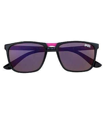 Superdry Ladies Sunglasses Aftershock - Black and Pink Frame