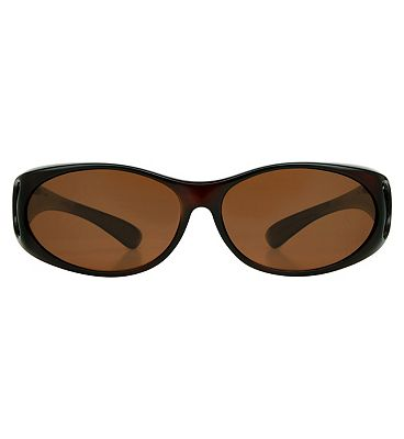 Boots Optical Cover Sunglasses - Dark Crystal Brown Frame