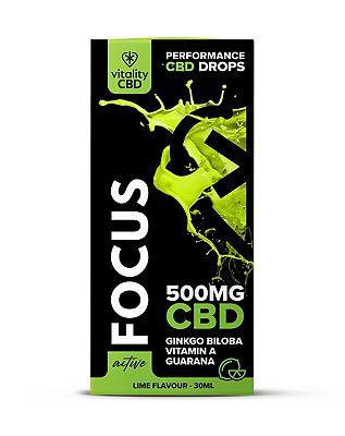 Vitality CBD Active Focus 500mg CBD Lime Flavour Drops 30ml