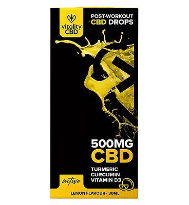 Vitality CBD Active 500mg CBD Lemon Flavour Drops 30ml