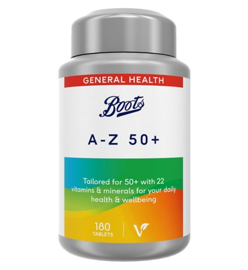 Boots A-Z 50+ 180 Tablets (6 month supply)