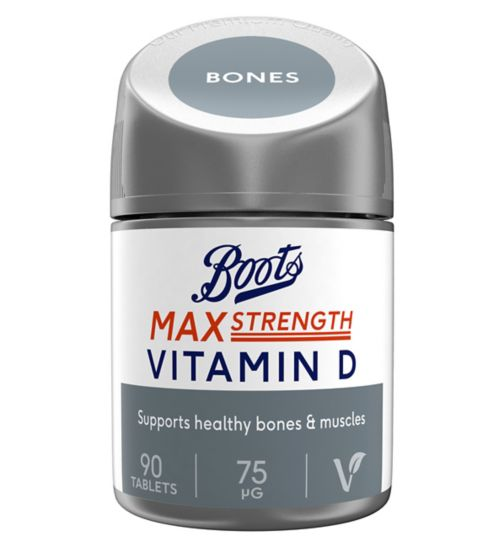 Boots Max Strength Vitamin D 75 µg 90 Tablets (3 month supply)