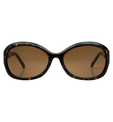 Boots Ladies Polarised Sunglasses - Dark Brown Tortoiseshell Frame