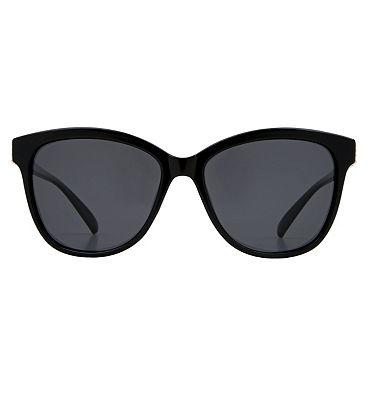 Boots Ladies Polarised Sunglasses - Black and Gold Frame