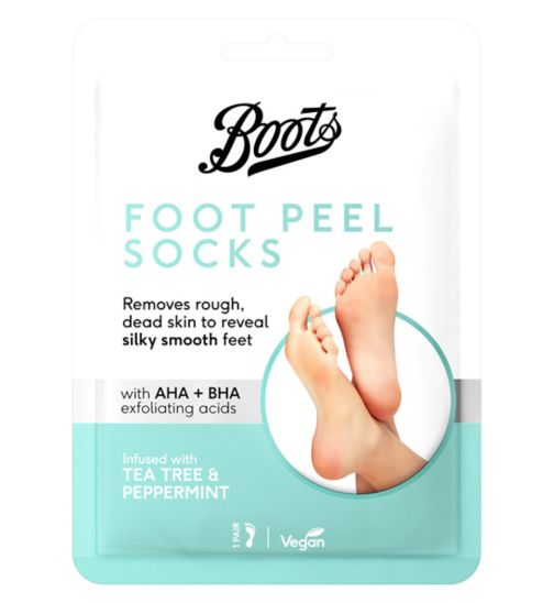 Boots Foot Peel Socks Tea Tree and Peppermint- 1 Pair