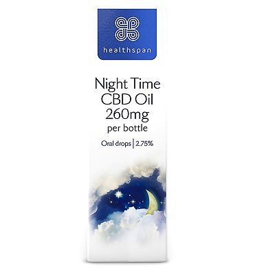 Healthspan Night Time CBD Oil 260mg per Bottle Oral Drops 2.75% 10ml