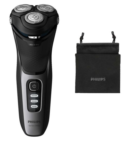 Philips Series 3000 Wet or Dry Men's Electric Shaver with a 5D Pivot & Flex Heads S3231/52