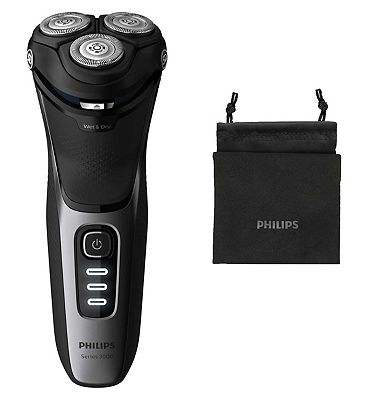 Image of Philips Series 3000 Wet or Dry Mens Electric Shaver with a 5D Pivot & Flex Heads S3231/52