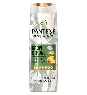 Pantene Grow Strong Shampoo With Bamboo And Biotin 400ml