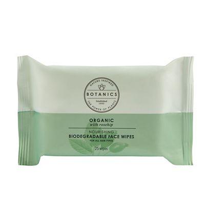 Botanics Organic Biodegradable Cotton Facial Wipes 25s