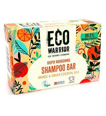 Eco Warrior Deeply Nourishing Shampoo Bar - Orange & Ginger Essential Oils 100g