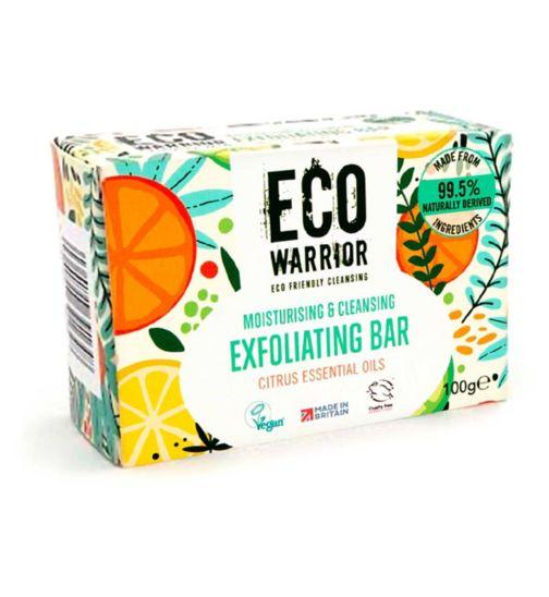 Eco Warrior Moisturising & Cleansing Exfoliating Bar - Citrus Essential Oils 100g