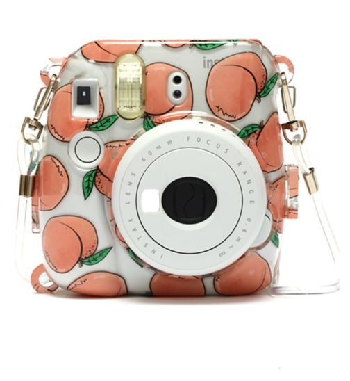 Instax Mini camera 9 white with 10 pink shots and Skinny Dip case set