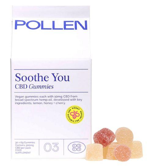 Pollen Soothe You CBD gummies 30 x 6g Gummies