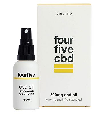 Fourfivecbd 500mg CBD Oil Lower Strength / Unflavoured 30ml
