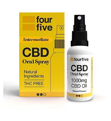 Fourfivecbd 1000mg CBD Oil Medium Strength / Unflavoured 30ml