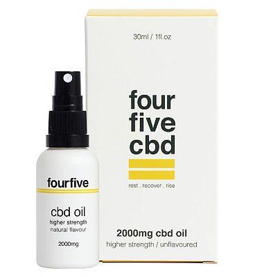 Fourfivecbd 2000mg CBD Oil Higher Strength / Unflavoured 30ml