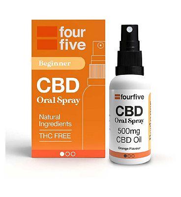 Fourfivecbd 500mg CBD Oil Lower Strength / Orange Flavour 30ml
