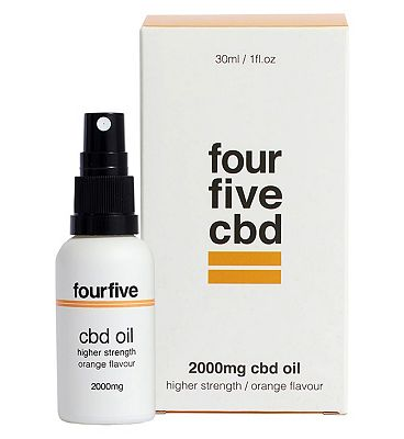 Fourfivecbd 2000mg CBD Oil Higher Strength / Orange Flavour 30ml
