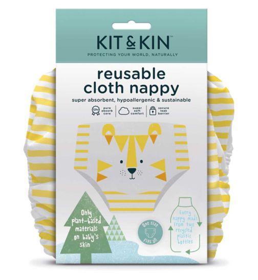 Kit & Kin Reusable Cloth Nappy (Tiger Design)