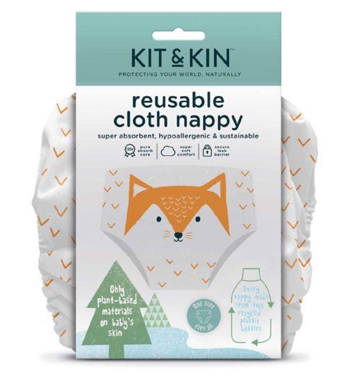 Kit & Kin Reusable Cloth Nappy (Fox Design)