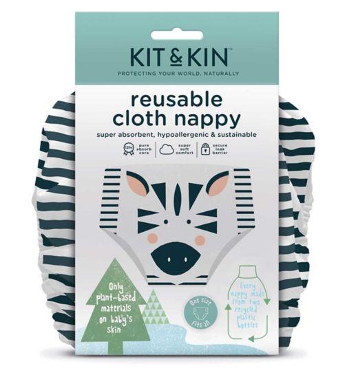 Kit & Kin Reusable Cloth Nappy (Zebra Design)