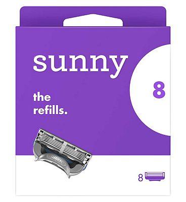 sunny razor blades - the refills X8