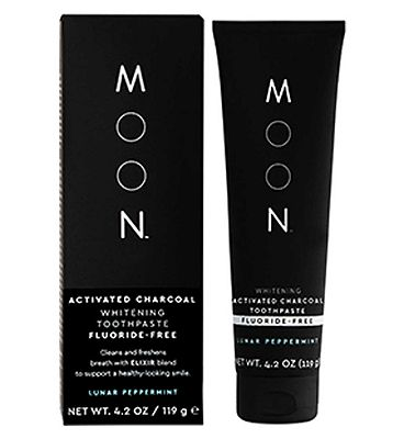 Moon Oral Care Activated Charcoal Fluoride-Free Whitening Toothpaste 119g