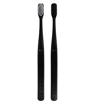 Moon Oral Care Soft Bristle Toothbrush Pack of 2 Set