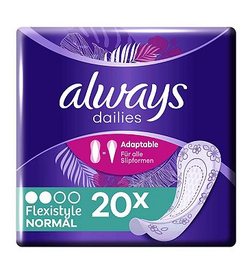 Always Dailies Flexistyle Panty Liners Normal x 20