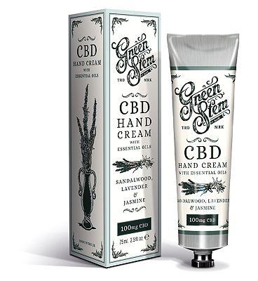 Green Stem CBD Hand Cream with Essential Oils 100mg CBD 75ml