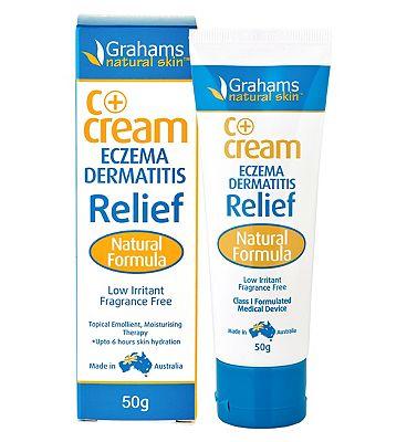 Grahams Natural Skin C+ Eczema & Dermatitis Relief Cream - 50g