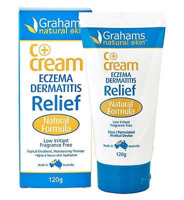 Grahams Natural Skin C+ Eczema & Dermatitis Relief Cream - 120g