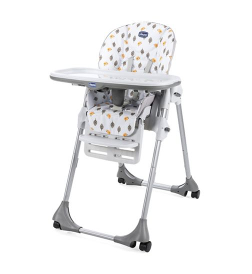Chicco Polly Easy 4 Wheels Highchair - Romantic
