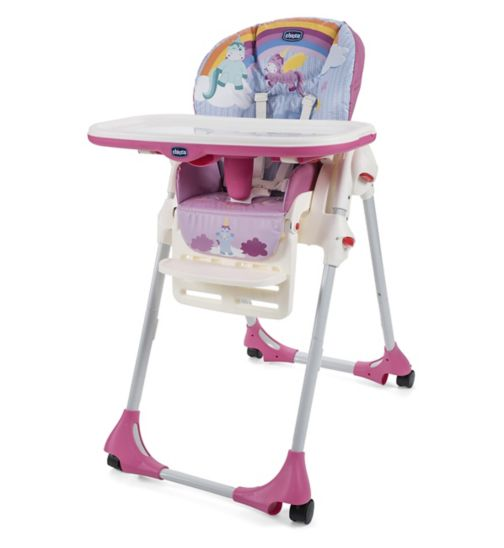 Chicco Polly Easy 4 Wheels Highchair - Unicorn