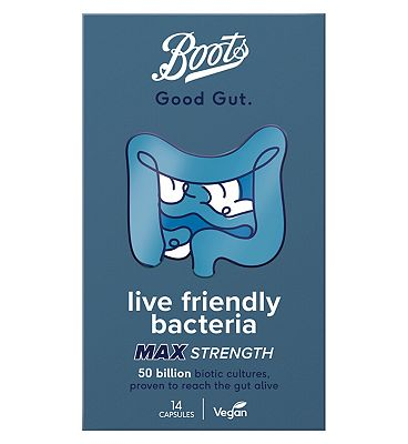 Image of Boots Good Gut Live Friendly Bacteria Max Strength 14 Capsules