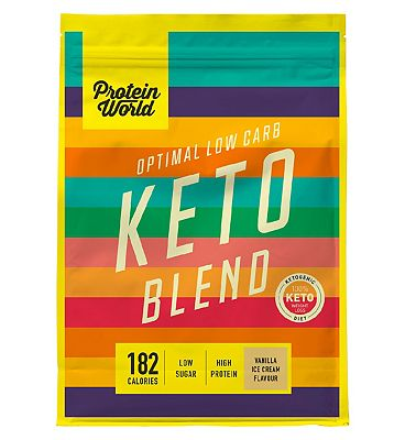 Protein World Keto Protein Shake Powder Vanilla Ice Cream - 520g