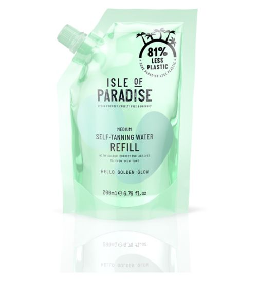 Isle of Paradise Medium Self-Tanning Water Refill Pouch 200ml