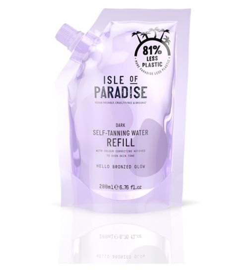 Isle of Paradise Dark Self-Tanning Water Refill Pouch 200ml