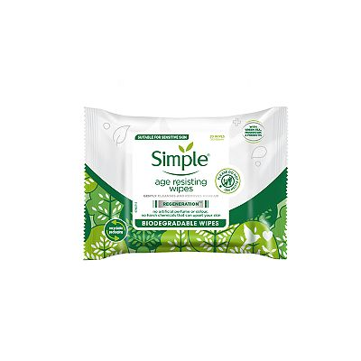 Simple Biodegradable Age Resisting Cleansing Wipes