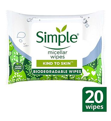 Simple Biodegradable Hydrating Cleansing Wipes
