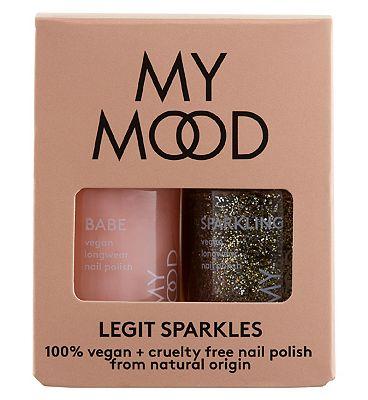 My Mood Nail Polish Duo Legit Sparkles