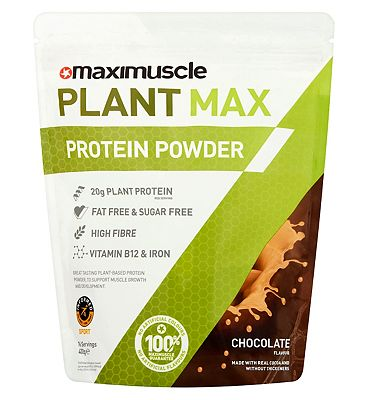 MaxiMuscle Plant Protein Powder Chocolate - 480g