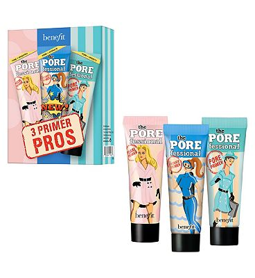 Image of Benefit 3 Primer Pros Hydrating, Brightening & Smoothing Primer Trio