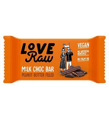 LoveRaw Vegan Milk Chocolate Peanut Butter Bar- 30g
